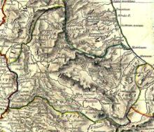 Mappa del Sannio abruzzese secondo l'Historical Atlas