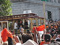Andrés Torres at Giants 2010 World Series victory parade 1.JPG
