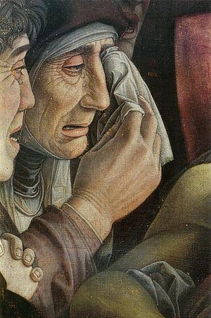 Lamentation of Christ (Mantegna) - Image: Andrea Mantegna, lamento sul cristo morto, dettaglio