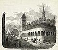 Andreas Ludvig Søborg - Christiania Bazarer (Slagterboder) og Brandvagtsbygning - 1860 - Oslo Museum - OB.02751.jpg