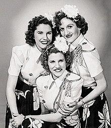 Andrews Sisters 1952