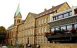 Angelaschule Osnabrück, an der Bramstraße liegender Teil des Klostertraktes
