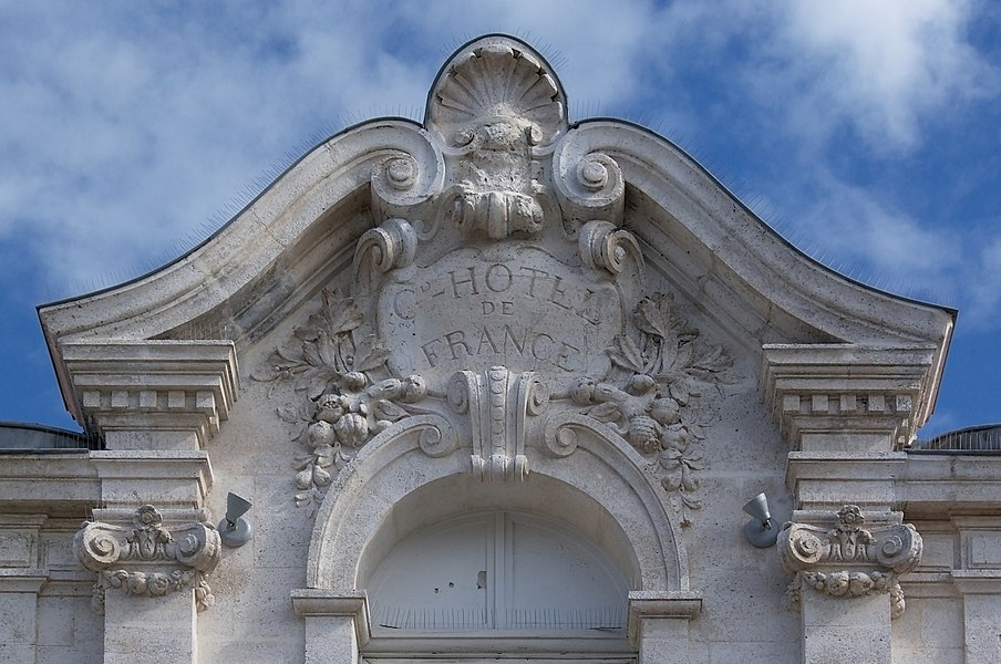 In 1597 Jean-Louis Guez de Balzac was born in this building. The carvings, on the upper part of the façade, are from the XIXth century. Angoulême, France
