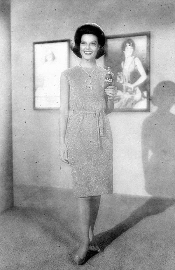 Anita Bryant holding a bottle of Coca-Cola