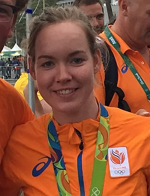 Anna van der Breggen - Anna van der Breggen after winning the gold medal at the 2016 Summer Olympics