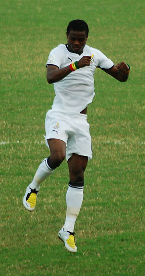 Anthony Annan - Anthony Annan playing for Ghana at the 2008 Africa Cup of Nations quarter-final victory match against Nigeria.