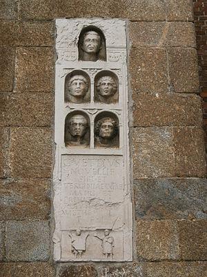 Porta Nuova, Gate of Milan - Image: Antica Porta Nuova Milano particolare 02