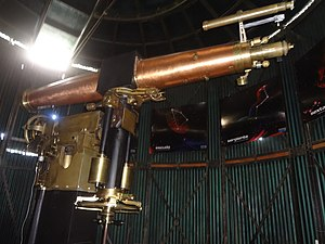Quito Astronomical Observatory - Image: Antique Telescope at the Quito Astronomical Observatory 003