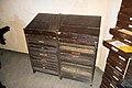 Antique lead type drawers (39693468215).jpg
