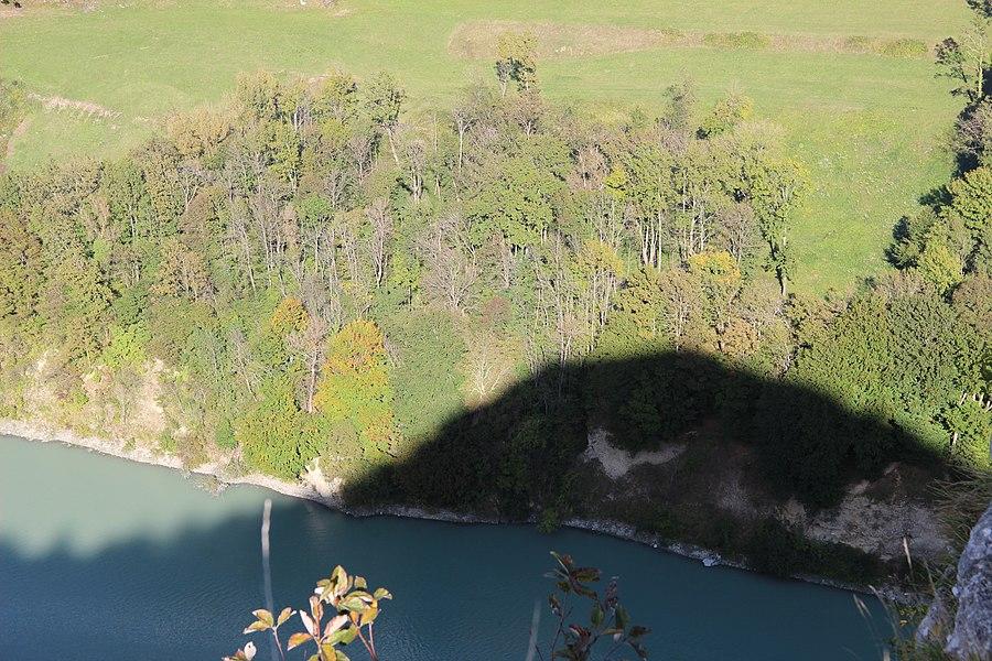 Antisolar point seen from the Rocher de Léaz