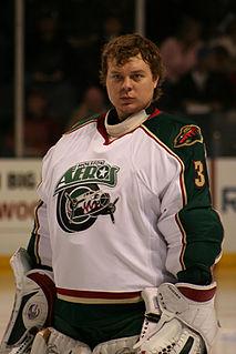 Anton Khudobin Russian ice hockey goaltender