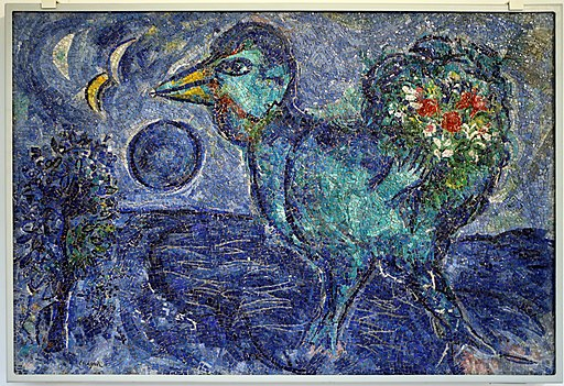 Antonio rocchi su dis. di marc chagall, le coq bleu, 1958-59
