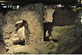 Archaelogical crypt, medieval ruined church in Paris (France).jpg