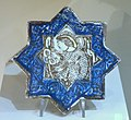 Architectural tile with a figure of a Mongol, Iran, Kashan, 13th-14th century, composite body, luster-painted - Huntington Museum of Art - DSC04974.JPG