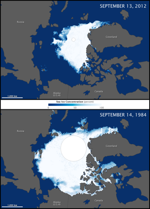 Arctic Sea Ice Minimum Comparison
