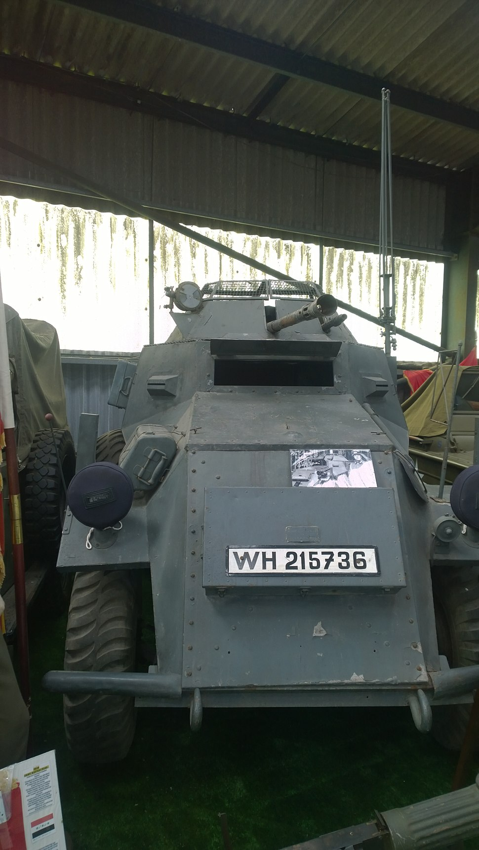 Armoured Vehicle used in the making of 'Allo 'Allo! TV Series