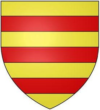 Berrynarbor - Arms of Richard Berrie Esq. (1582-1645), lord of the manor of Berrynarbor: Or, three bars gules, as depicted on his mural monument in Berrynarbor Church