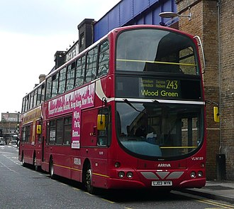 Arriva London - Wright Eclipse Gemini bodied Volvo B7TL on route 243 at Waterloo station
