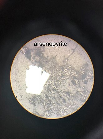 Arsenopyrite - Microscopic picture of Arsenopyrite