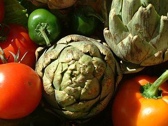Castroville Artichoke Festival - Image: Artichoke, peppers, DSCF1625