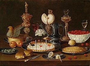 Artus Claessens - An opulent still life with a nautilus cup