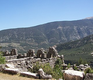 Arycanda ancient settlement in Anatolia