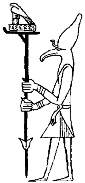 Ash (deity) - Ash as depicted in seals of Peribsen
