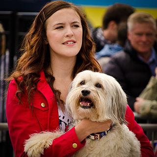 Ashleigh and Pudsey British dog trick act