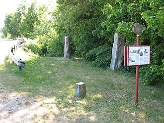Runestones at Aspa - Sö Fv1948;289 and Sö 141 at Aspa bridge.
