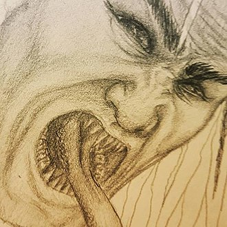 Philippine mythical creatures - A sketch of an aswang.