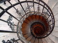 At the top of the stairs in the dome of St. Stephen's Basilica in Budapest.jpg
