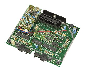 Atari 7800 - European motherboard modified by Atari to output RGB though a SCART connector