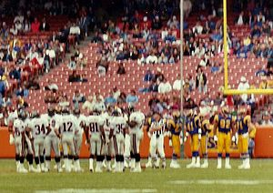 1991 Atlanta Falcons season - The Falcons playing against the LA Rams at Anaheim Stadium in 1991