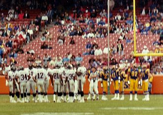 Los Angeles Rams - The Rams hosting the Atlanta Falcons at Anaheim Stadium in 1991