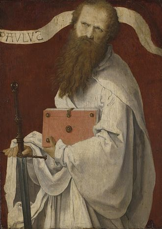 Paul the Apostle, (16th-century) attributed to Lucas van Leyden Attributed to Lucas van Leyden 001.jpg