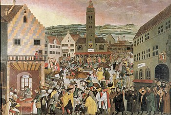 Augsburg 1550 (painting by Heinrich Vogtherr the Younger)