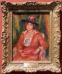 Portrait de femme assise