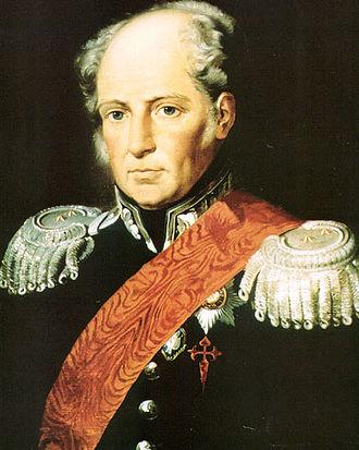 Agustín de Betancourt - Augustin de Betancourt, 1810s portrait in Russian Major General attire