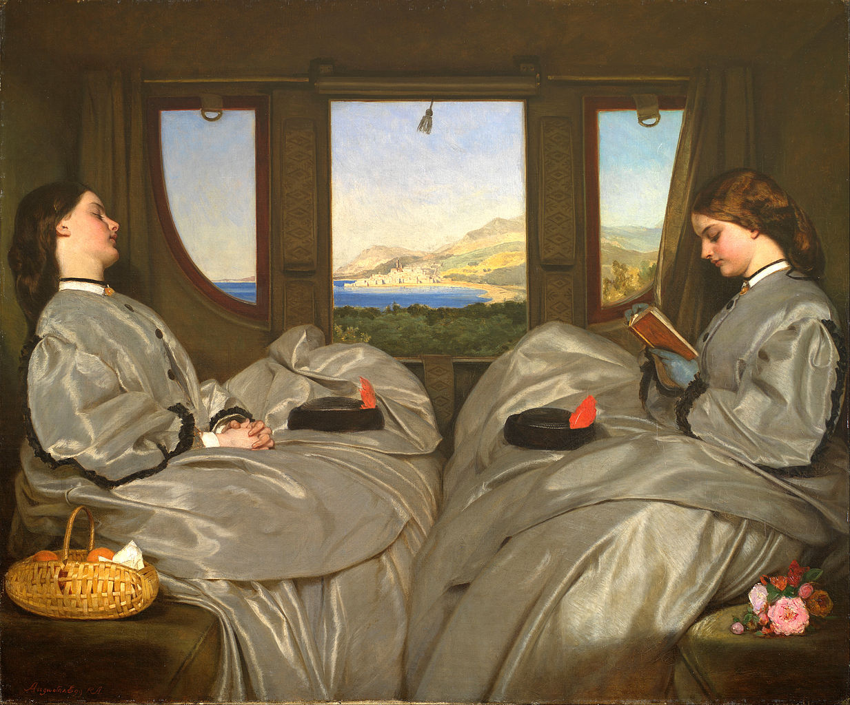 The Travelling Companions, by Augustus Leopold Egg