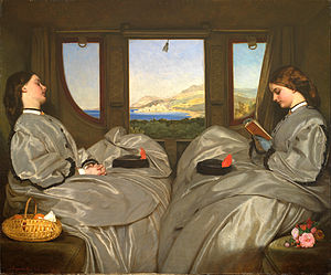 Augustus Egg - Augustus Egg, The Travelling Companions (1862; Birmingham Museum and Art Gallery).