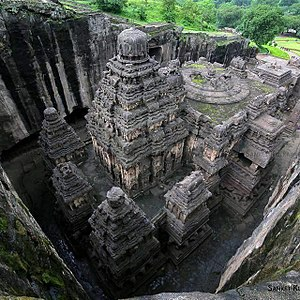 Marathwada - God Shiva temple in ellora caves