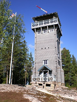 Observation tower - Kirkkovuori Nature Observation tower, Karstula, Central Finland.