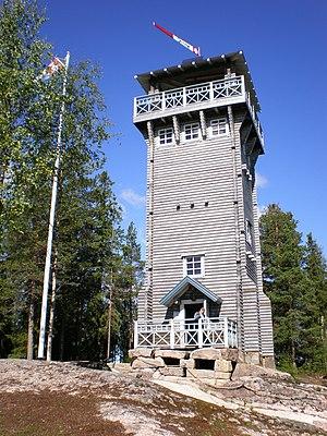 Observation tower - Kirkkovuori Nature Observation tower, Karstula, Central Finland.