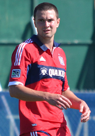 Austin Berry (soccer) - Berry playing with Chicago Fire in 2013