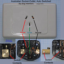 Asnzs 3112 wikipedia australian socket outlet auto switched by plug insertion automatically switched socket outlets such as these may be used to supply power to refrigerators swarovskicordoba Gallery