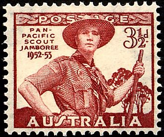 Scouting in popular culture - Australian Scouting stamp