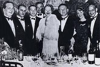 Bermuda Bowl - The 1937 world champion Austria open team. From left: Karl Schneider, Hans Jellinek, Edouard Frischauer, Paul Stern (Capt.), Josephine Culbertson (US), Walter Herbert, Helen Sobel (US), and Karl von Blöhdorn.