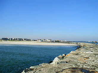 Avalon, New Jersey - Rocks were erected where 8th Street meets Townsend's Inlet to hold back the ocean.