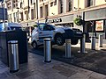 Avis van stuck on automatic bollards, Cardiff, October 2018 (1).jpg
