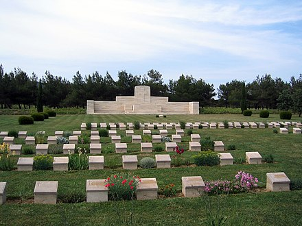 The Commonwealth War Graves Commission serves to commemorate 1.7 million Commonwealth war dead and maintains 2,500 war cemeteries around the world, including this one in Gallipoli. Azmak Cemetery, Gallipoli Peninsula.JPG